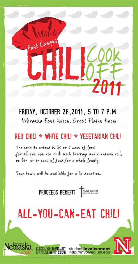chili cook off set for oct 28 announce university of