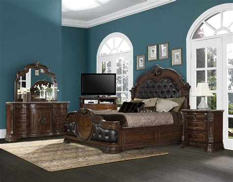 Tufted Headboard Bedroom Set At Real Estate Picture Living Room Sets For Sale In Houston Tx