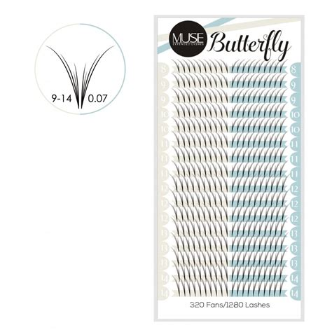 pre fanned volume lashes muse extended lashes muse butterfly pre fanned volume