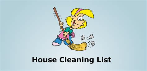 amazon home cleaning amazon com house cleaning list appstore for android
