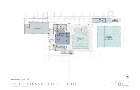 2 d as built floor plans gallery of east oakland sports center els architecture