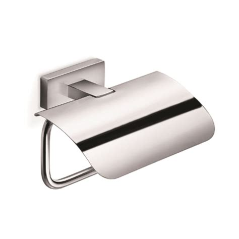 Inda Bathroom Accessories Lea Toilet Roll Holder And Cover A18260 Chrome