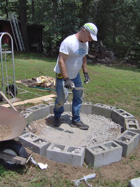 Firepit Project Around Karen S House How To Build A Backyard Pit Out Of Bricks