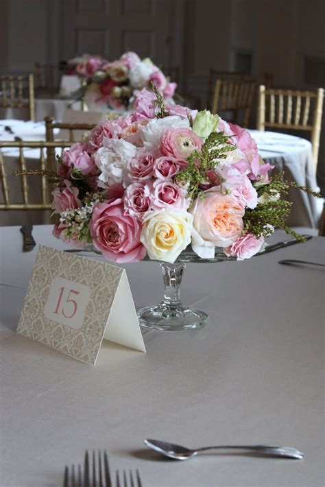 blush floral design cakestand wedding at the new haven