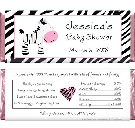 candy bar wrappers template for baby shower printable free