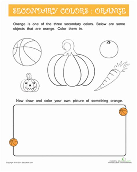 orange color activity sheet other colors the preschool things that are orange coloring page education com