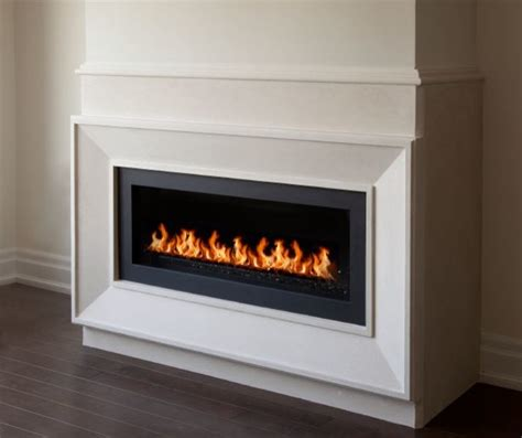 New York linear fireplace mantel   Modern   Living Room