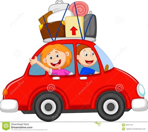 car travel family traveling with car stock vector image 39147710
