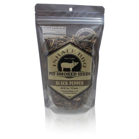 black pepper sunflower seeds inhale bbq pit smoked seeds