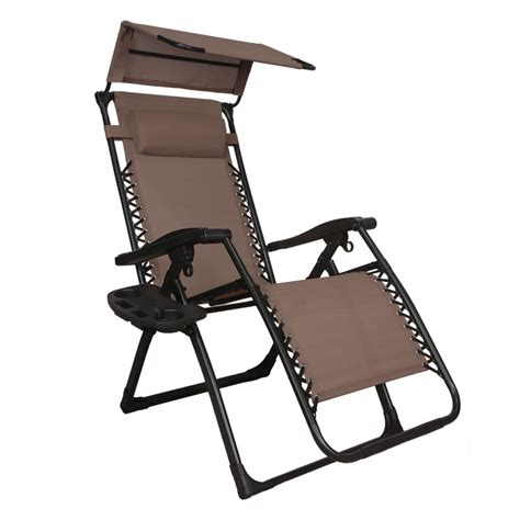 Chair With Canopy And Cup Holder by New Zero Gravity Chair Lounge Patio Chairs Outdoor With