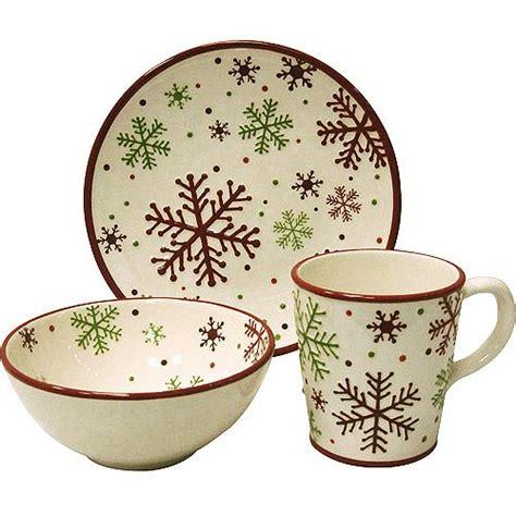 dinner plate set snowflake 12