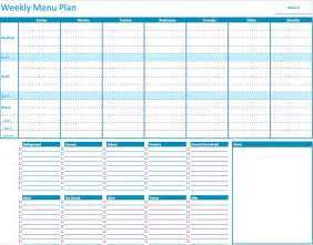 Weekly Food Planner Template Numbers Weekly Menu Planner Template Free Iwork Templates