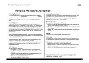 Mentor Contract Template by Mentoring Agreement Gallery