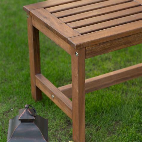 3 foot bench outdoor 3 ft outdoor backless garden bench in brown wood