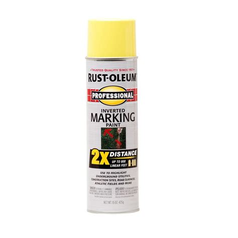 marking spray paint shop rust oleum professional high visibility yellow spray