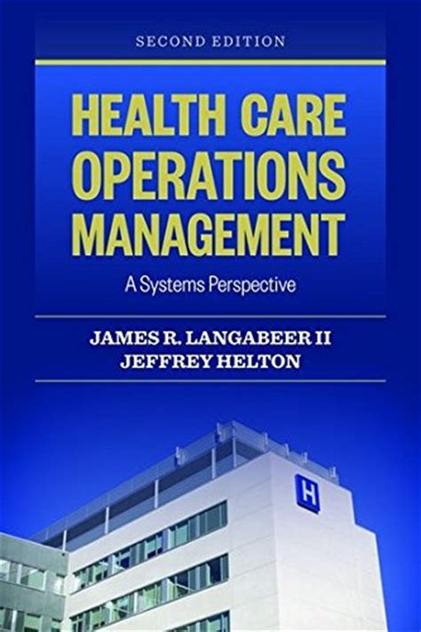 Mba Emergency Management by Read Health Care Operations Management A