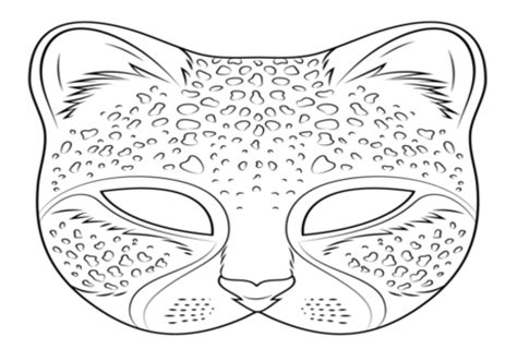 cheetah mask template cheetah coloring mask coloring pages