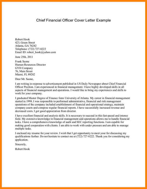 cover letter for officer position stunning sle resume chief financial officer position