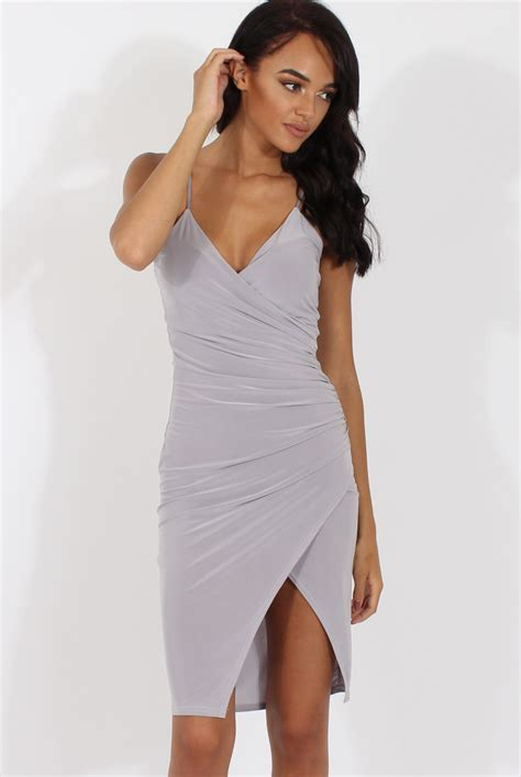 wrap around grey wrap around dress kesha trends