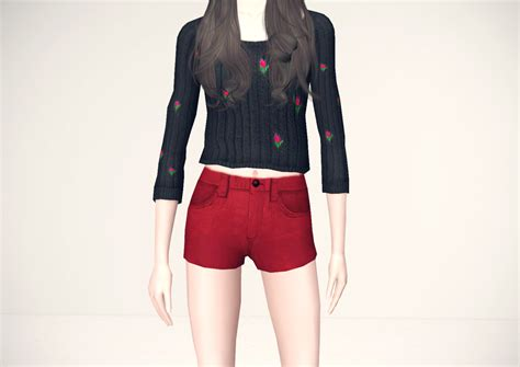 Sweater Melody By Immioshop my sims 3 flower knit sweater by melody65