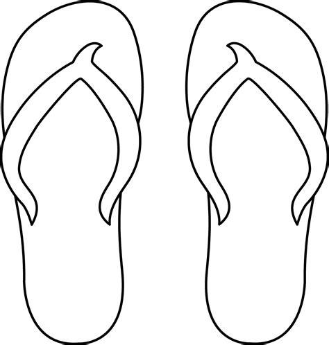 template of flip flops templates clipart flip flop pencil and in color templates clipart flip flop