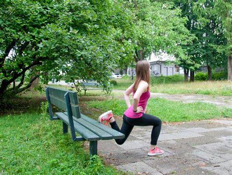 der bank das beste outdoor workout mit parkbank we go