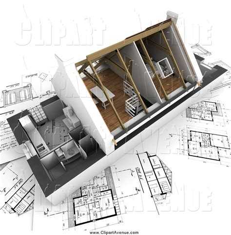 architecture blog avenue clipart of a 3d home model with vaulted ceilings on