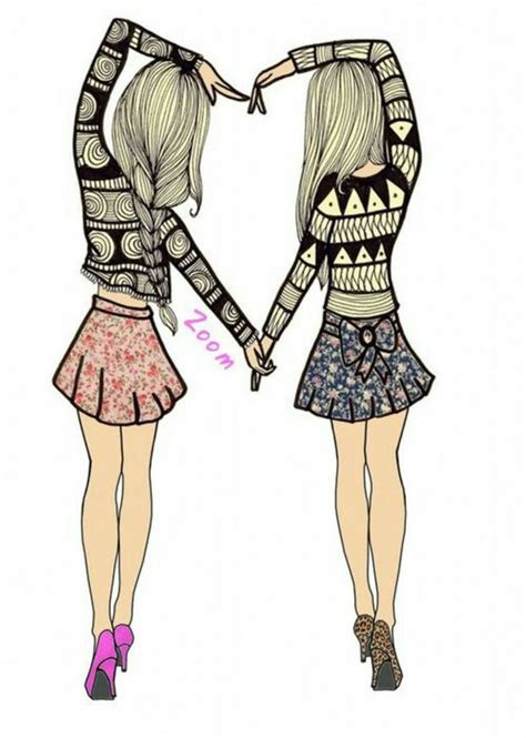 cute drawings of friendship best friend heart drawings hipster follow for follow image 1816985 by maria d on favim com