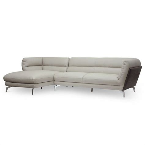 2 L Shaped Sectional by Quall 2 L Shaped Sectional Sofa In Gray 1883 Cu015
