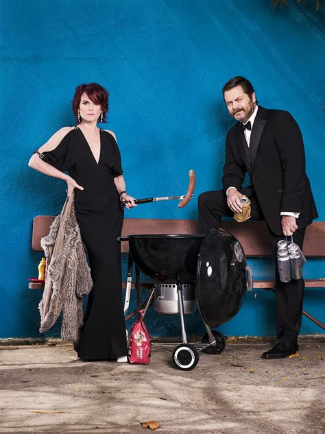 nick offerman record store nick offerman and megan mullally torrid comedy sans live