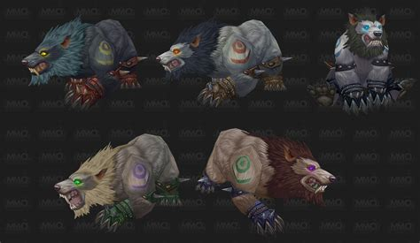 druid colors we troll and worgen druid forms going bearfoot