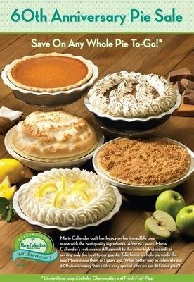 Calendars Pies Free Restaurant Printable Coupons Fast Food Restaurant