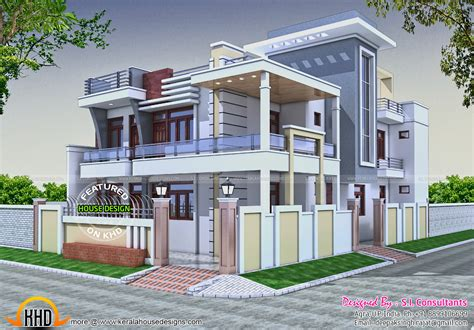 Home Design Pictures India | 36x62 decorative modern house in india kerala home