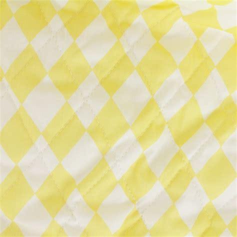 Quilted Cotton Fabric by Quilted Cotton Fabric Color Arlequins Yellow