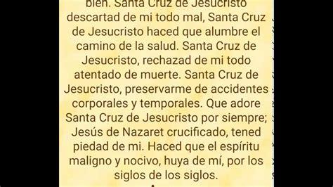 la oracion de santa cruz invocaci 243 n a la santa cruz youtube