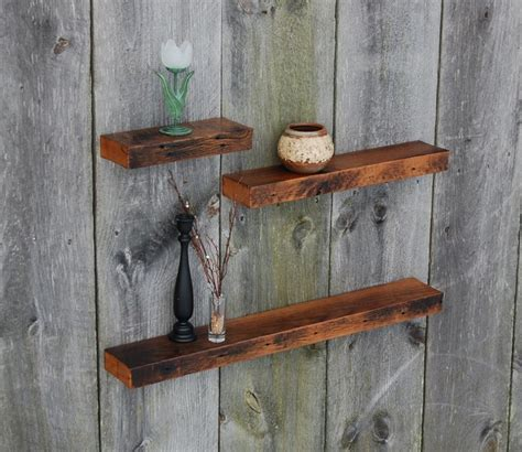 vintage white oak floating shelves rustic display and