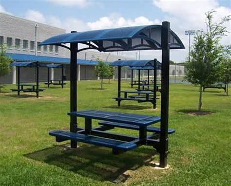 Picnic Table Awning by Canopy Table At Builtrite Bleachers