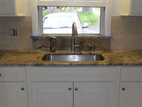 kitchen sinks with backsplash undermount kitchen sink granite window sill limestone backsplash sal thegraniteguy