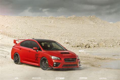 Matte Red Subaru Wrx Sti Adv06 M V2 Cs Adv 1 Wheels