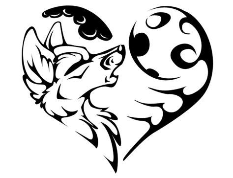 tribal wolf outline www pixshark howoing wolf outline tribal wolf moon
