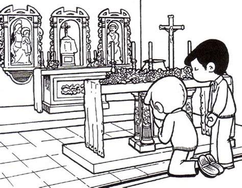 imagenes de ninos rezando para colorear colorear dibujos de ni 209 os rezando