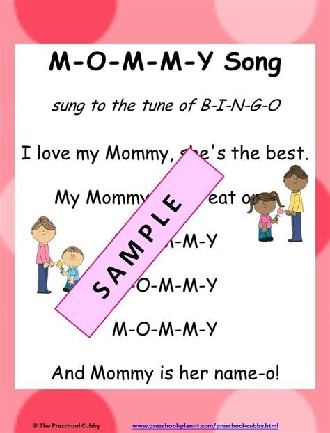 s day beginning song 15 best mothers day preschool theme images on