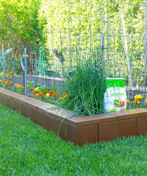 Vegetable Garden Borders Modular Plastic Border Edging Blocks For Your Garden And