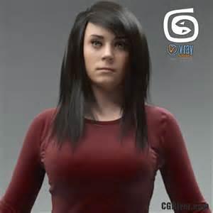 Free 3d model rigged 3d woman cwom0019hd2cs