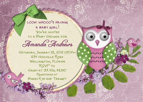Winter Owl Baby Shower Invitations by Winter Purple Baby Shower Invitation Lavender With
