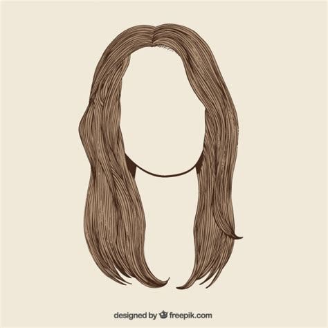 long hair vector free download