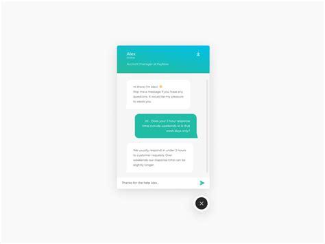 chat interface designthing