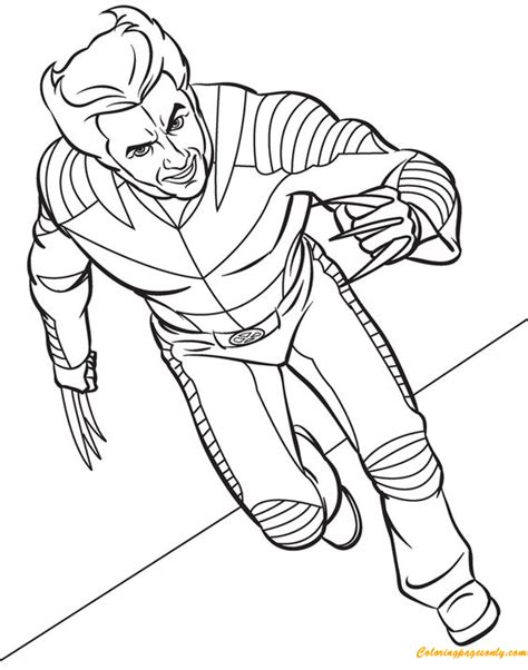 wolverine coloring pages online for free wolverine coloring page free coloring pages online