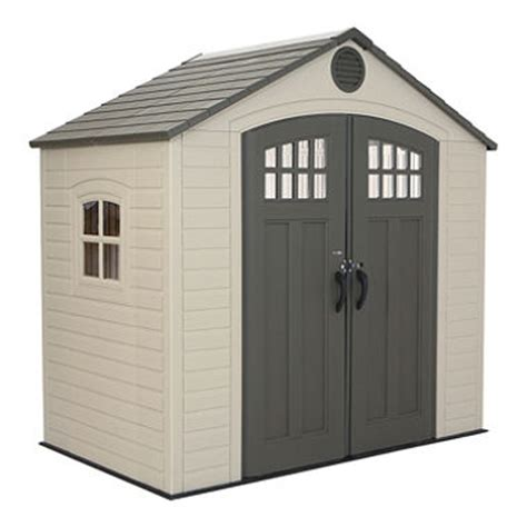 Garden Shed 8 X 5 by Lifetime 8 X 5 Outdoor Storage Shed Sam S Club