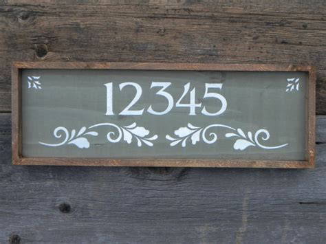 Handmade Plaques - custom and personalized address sign handmade signs outdoor